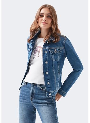 Mavi Daisy 90 S Zımparalı Mavi Jean Ceket Mavi